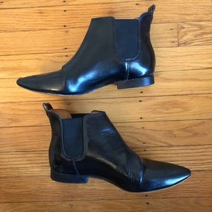 Madewell Black Pointed Toe Ankles Boots